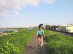 洋子多摩川サイクリング - 13.jpg